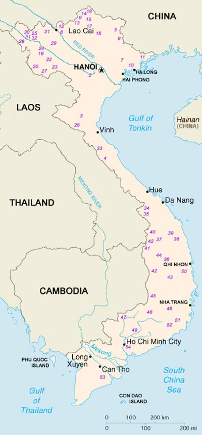 Ethnic Groups in Vietnam Map